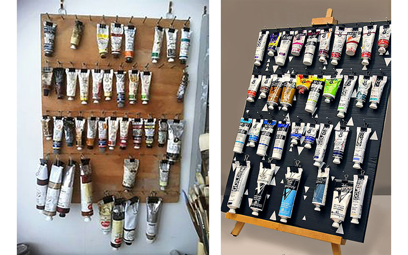store organize art supplies 6 ways to store paint tubes and bottles. Black Bedroom Furniture Sets. Home Design Ideas