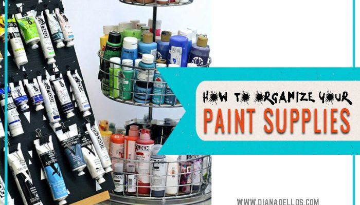 Store and Organize Art Supplies: Paint Tubes and Bottles