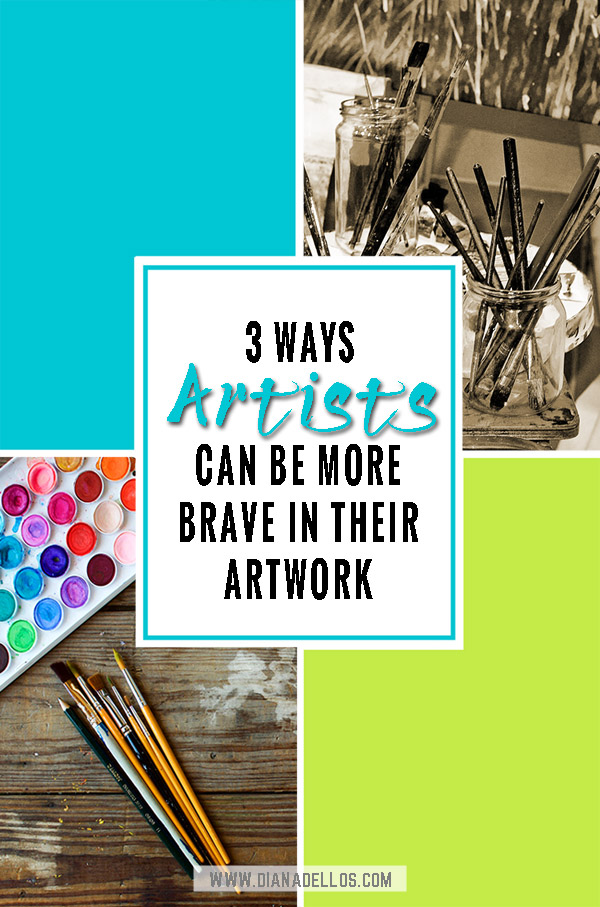 3 Brave Things for Creatives to Try This Year. Find new ways to push your boundaries creatively, be brave in your artistic ways, and brave in your creative choices #3bravethings