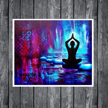 Namaste art, yoga art, yoga painting, www.dianadellos.com