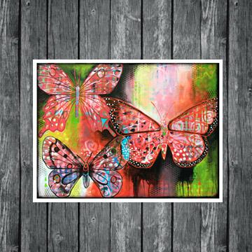 butterflies art, butterfly painting, harmony, www.dianadellos.com