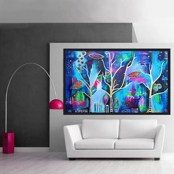 dancing trees, abstract art, www.dianadellos.com