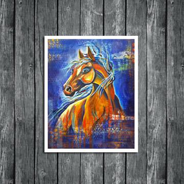 spirit wild horse, horse art, horse painting, www.dianadellos.com