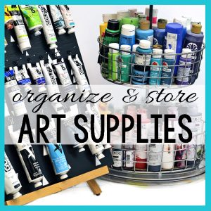 store&organize art supplies, www.dianadellos.com