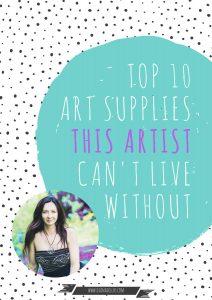 top 10 art supplies, dianadellos.com