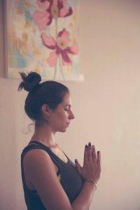 Holistic Yoga Studio, peaceful floral painting, dianadellos.com