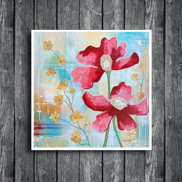 Serenity flowers, flower art, flower painting, floral art, www.dianadellos.com