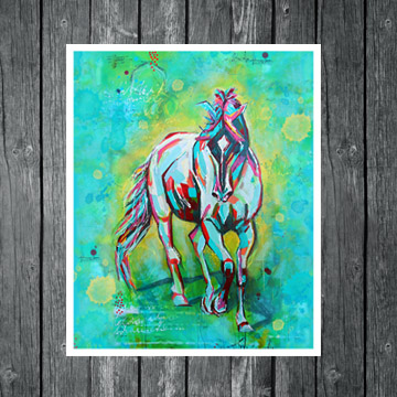 Free Spirit, horse art, horse painting, www.dianadellos.com