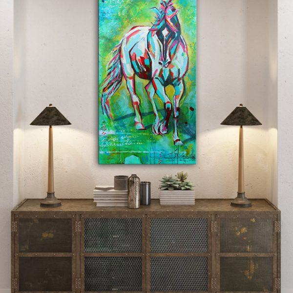 free spirit, horse painting, www.dianadellos.com