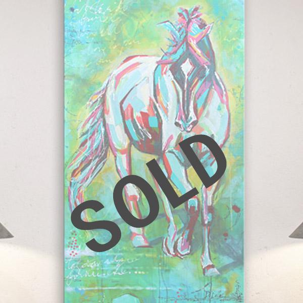 free spirit, horse painting, dianadellos.com