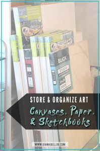 5 Ways To Organize Art Canvases, Paper, & Sketchbooks   www.dianadellos.com