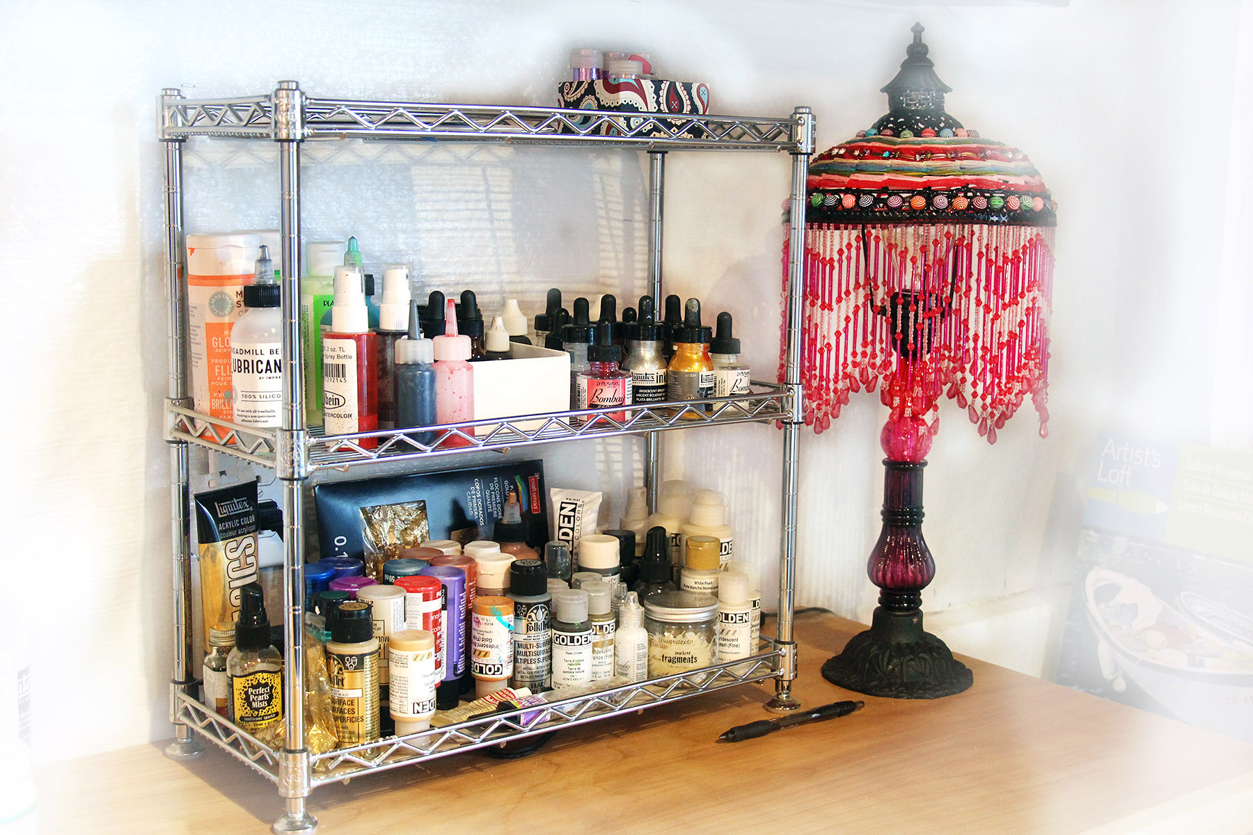 How To And Organize Art Supplies Paint S Bottles Www Dianadellos