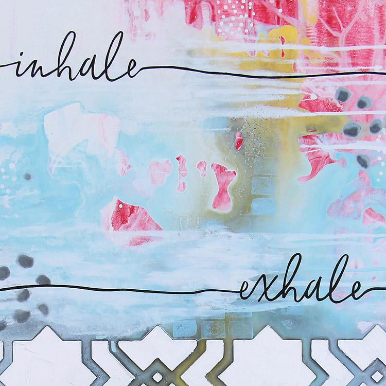 Inhale.Exhale. art print | www.dianadellos.com