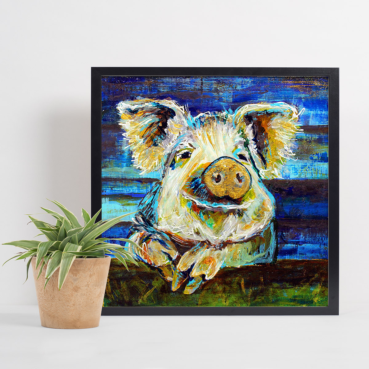 Pig Walks Into A Bar Print Diana Dellos Designs